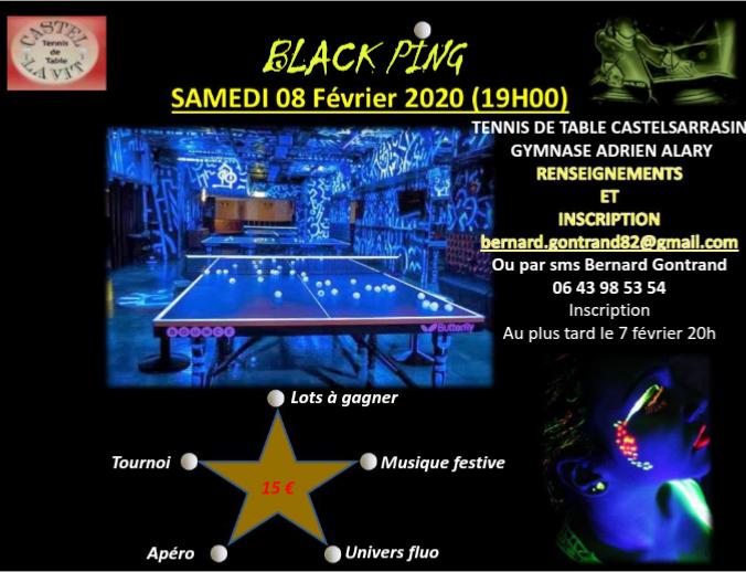 soirée BLACK PING 8 février